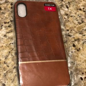 Brown iPhone X cellphone case